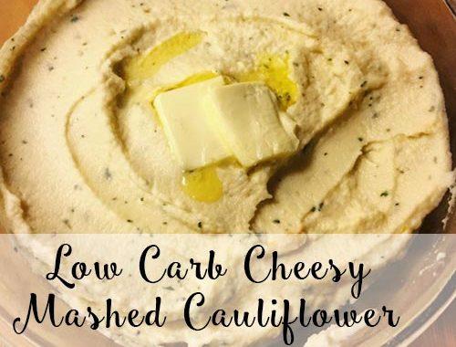 low carb cheesy garlic mashed cauliflower recipe